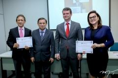 Djalma Pinto, César Barros Leal, Ariano Ponte e Denise Cavalcante