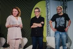 Bete Jaguaribe, Fabiano Piuba e Paulo Linhares
