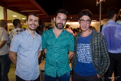 Suedio Meira, Nivando Bezerra e Marcelo Barbalho