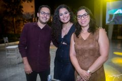 Marcelo Camuça, Gabriela Oliveira e Emily Luna