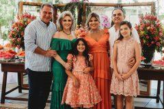 Jorio e Graça da Escóssia,  Gisela Vieira, Herbert Vieira, Giulia e Giovanna Vieira