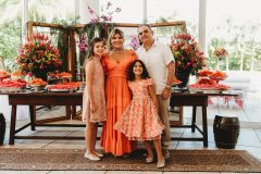 Giulia, Gisela ,Giovanna  e Hebert Vieira