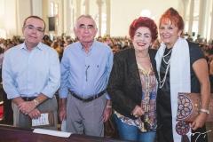 Alessandro Belchior, Walter Belchior, Josilda Belchior e Fátima Duarte