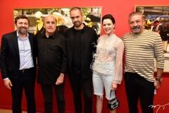 Élcio Batista, Silvio Frota, Léo Faria, Paulinha Sampaio e Cláudio Silveira