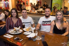 Gracielle Kettenhuber, Leandro e Leonardo Ávila e Franciele Azevedo