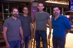 Leonardo Brasil, Aristoteles Junior, Marcio Canamary e André Pires