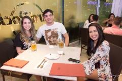 Thamires Monteiro, Lucas Coutinho e Brenda Rocha