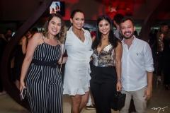 Poliana Ramalho, Cléa Girão, Mileide Mihaile e Lucílio Lessa