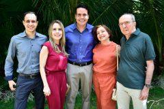 Bruno Almeida, Lia Barreira, Fabiano e Tania Barreira e José Weber