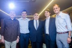 Renato Aguiar, Luiz Miranda, Wilton Daher, Eliardo Vieira e Ênio Leal