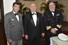 Cel. Giarola, Amaurilio Cavalcante e Com. Eugênio Marques