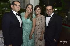 Roberto e Milena Medeiros, Michele e Germano Albuquerque