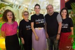 Natasha Farias, Socorro França, Onélia Santana, Paulo Linhares E Patricia Liebmann