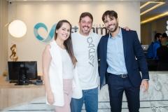 Janaína Frota, Gustavo Arruda e Tiago Alcântara