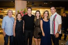 Hugo Brasil, Norma Brasil, Rodrigo Moreira, Joana Moreira, Liana Leal e Edgar Gondim