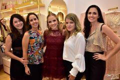 Roberta Ribeiro, Andrea Montenegro, Nathalia Petrone, Juliana Vilasboa e Sinara Miranda