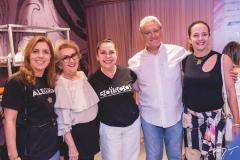 Ticiana Rolim, Socorro França, Dora Andrade, Gerson e Ana Claudia Guimarães