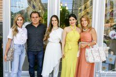 Priscila Silva, Gentil, Lara, Lia Linhares e Maira Silva