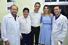 João Franca, Dr. Cabeto, Camilo Santana,  Onélia Santana e Fabrício Cesar