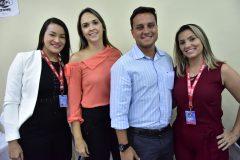 Leyva Nascimento, Juliana Silveira, Bruno Aquino e Marcela Campos