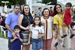 Luiz Guimarães, Luciana, Luciano, Ana Cristina e Perpétua Tomé, Nathalia e Maria Mota
