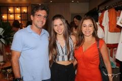 Adalberto, Lívia e Sandra Machado