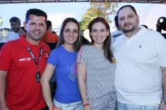 Erick e Raquel Vasconcelos, com Marjorie e Reinaldo Salmito