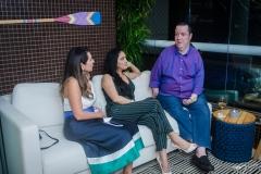 Márcia Travessoni, Alessandra de Almeida e David Valente
