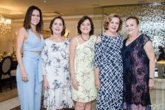 Luciana Sousa, Zena Targino, Ana Studart, Auxiliadora Paes Mendonça e Helena Diogo