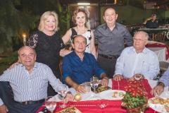 Ednilo Soárez, Fani Soárez, Marcos Montenegro, Solange Almeida, Germano Almeida e Teobaldo Brito