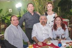 Olívio Costa, Germano Almeida, Antônio Parente, Solange Almeida e Fátima Parente