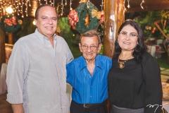 Olívio Costa, Manuel Saboia e Carmen Braga