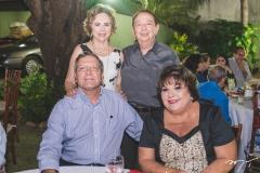 Osmar Delboni, Solange Almeida, Germano Almeida e Elizabeth Delboni