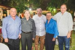 Otaviano Araripe, Germano Almeida, Antônio Parente, Manuel Saboia e Olívio Costa