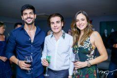 Lucas Fernandes,  Rodrigo Maia e Ana Lucia Vilela