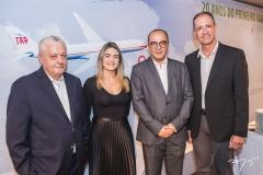 Mário Carvalho, Denise Carrá, Adriano Araújo e Regis Medeiros