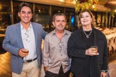 Miguel Maurique, Ednísio Fernandes e Roberta Boris
