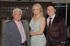 Antônio, Sheila e Daniel Gomes