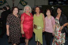 Edamir Cabral, Nilza Gramosa, Elenita Figueiredo, Elenira Freitas e Fátima Monte