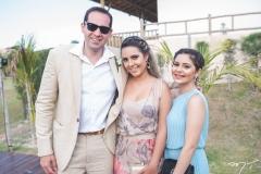Cláudio Alencar, Gabriela Alencar e Lorena Martins