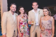 Fernando Filho Silva, Luciana Silva, Cláudio Alencar e Gabriela Alencar
