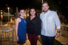 Taline Marques, Denise Sá e Leonardo Dias