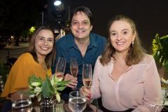 Ana Paula, Vicente Pessoa e Helena Demes