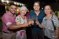 Rafael Costa, Alódia Guimarães, Vicente Pessoa e Samira Guimarães