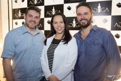 Wesley Saboia, Jaqueline Castilho e Márcio Aldigueri