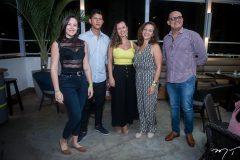 Jessika Silva, Flávio Oliveira, Larissa Castro, Joann Leite e Anchieta Dantas