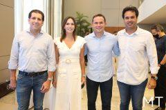 Jonathans Costa, Renata Santos, Fábio Albuqerque e Sergio Miranda