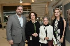 Edson Queiroz Neto, Regina Teixeira de Barros, Aracy Amaral e Lenise Queiroz Rocha