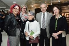 Tania Amelia Bulhoes, Bia e Max Perlingeiro, Aracy Amaral e Regina Teixeira de Barros