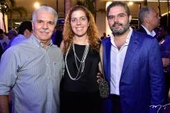 Pio Rodrigues, Ticiana Queiroz e Edson Queiroz Neto